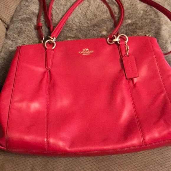 a070a7ac7b Coach Bags | Red Leather Bag | Poshmark